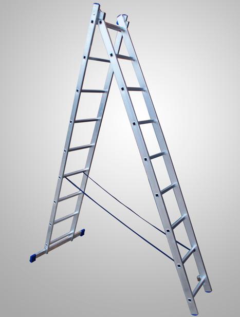 Лестницы алюминиевые двухсекционные