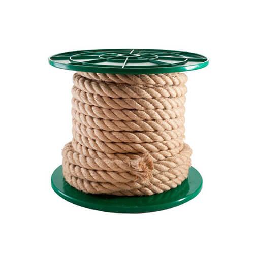 Веревка крученная джутовая